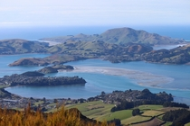 Beautiful views from Mt Cargill Dunedin NZ