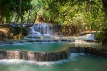 Beautiful waterfall in Luang Prabhang Laos