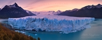 Beautiful wide angle shot of the Perito Moreno Glacier Santa Cruz Argentinian Patagonia  photo by Mike Reyfman