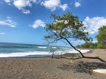 Beautiful wild beach in Marbella Costa Rica