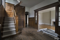 Beautiful Woodwork Inside an Abandoned Toronto Home Set for Demolition