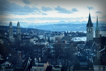 Beautiful Zurich cityscape