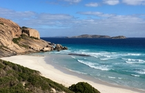 Beautifully blue and unenhanced water at West Beach Esperance Western Australia