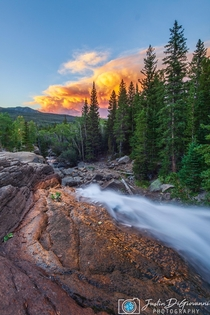 Beauty Among The Chaos  Colorado fires still burning strong captured from RMNP at the top of Alberta Falls