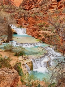 Beaver Falls at Havasupai last January