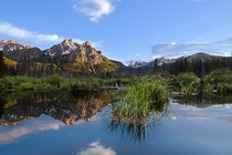 Beaver Pond Reflection Mount McGowan Sawtooth Range Idaho
