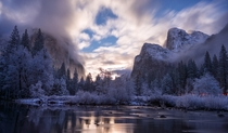 Before moonrise at Yosemite  by Vicki Mar