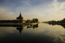 Before sunset at the Royal palace in Mandalay