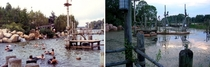 Beforeafter abandoned Disney River Country water park