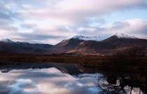 Behold the beauty of Scotland taken near Glencoe just before Christmas