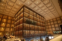 Beinecke Rare Book amp Manuscript Library at Yale University by SOM The walls are translucent slabs of marble