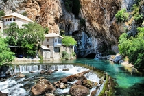 Bektashi monastery on the source of the Buna River in Bosnia-Herzegovina