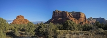 Bell Rock and the Courthouse near Sedona AZ