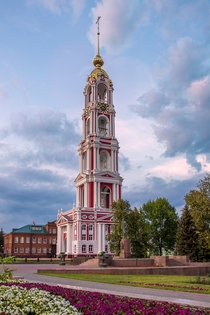 Bell Tower of Kazan Monastery in Tambov Russia by Sergey Rannev