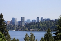 Bellevue Washington from nearby Mercer Island
