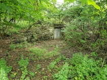Below ground door on old nunnery property in Michigan
