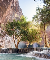 Below Mooney Falls Havasupai Indian Reservation United States