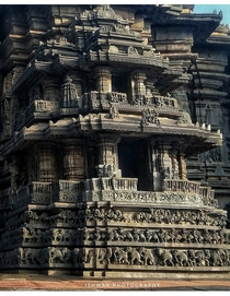 Belur templeIndia zoom in every elephant is differentce