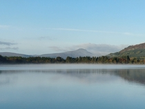 Ben Lomond rising above the Lake of Menteith Scotland