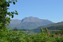 Ben Nevis in Scotland on a clear summers day