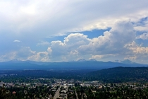 Bend OR and the Cascades from Pilot Butte