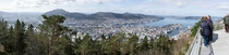 Bergen is awesome - pano from Mt Flyen