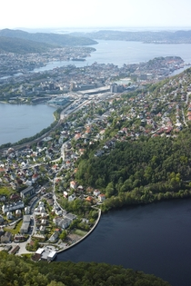 Bergen Norway as seen last Sunday