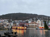 Bergen Norway on a cold and miserable winter day in December  Was still kinda fun walking around