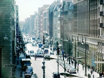 Berlin Germany - now blocked view over Friedrichstrae