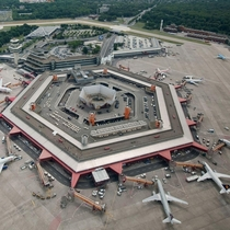 Berlins Ill-Fated Tegel Airport Distinguished by its Drive to your gate layout It will close permanently on November  replaced by the new Berlin Brandenburg Airport