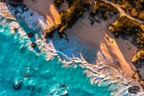 Bermuda sunset from above