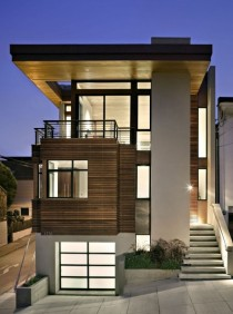 Bernal Heights Residence by SB Architects I know this look is getting overused but I still love black framed windows with a nice wood panel treatment