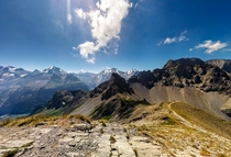 Bernese Alps from Bunderspitz near Adelboden Switzerland OC
