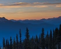 Best view of the sunset on top of Whistler Mountain