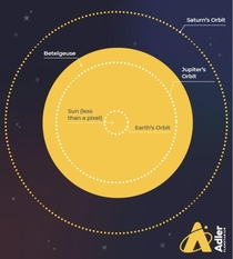 Betelgeuse Compared To Our Solar System
