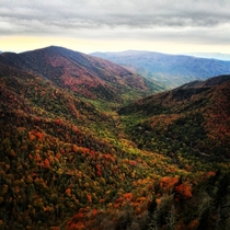 Between Cherokee NC and Gatlinburg TN I took this picture at the highest point on the Chimney Tops hike