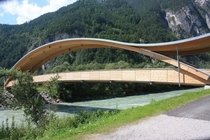 Bicycle bridge at Pirkach Austria