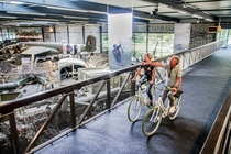 Bicycle bridge inside Overloon War Museum Netherlands