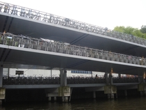 Bicycle parking garage in Amsterdam the Netherlands