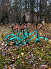bicycles untouched for  years Chernobyl Exclusion Zone Ukraine