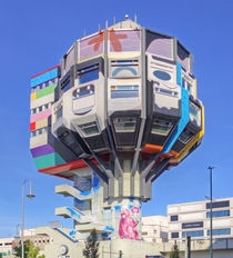 Bierpinsel Berlin Steglitz by Schler and Schler-Witte  after Tower Art graffiti
