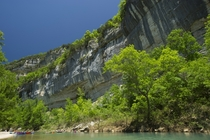 Big Bluff towering over Americas first national river the Buffalo