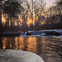 Big Haynes Creek at sunset Conyers Georgia