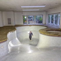 Biggest swimming pool I have even seen inside an abandoned mansion