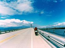 Biking over Lake Champlain Bridge  OC