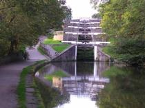 Bingley five rise locks on the Leeds Liverpool Canal