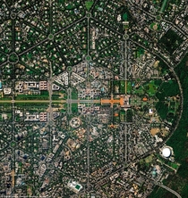 Birds eye view of New Delhi