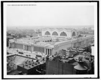 Birds-eye View of Penn Station New York City ca