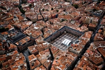 Birds-eye view of the center of Madrid