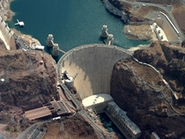 Birds eye view of the Hoover Dam